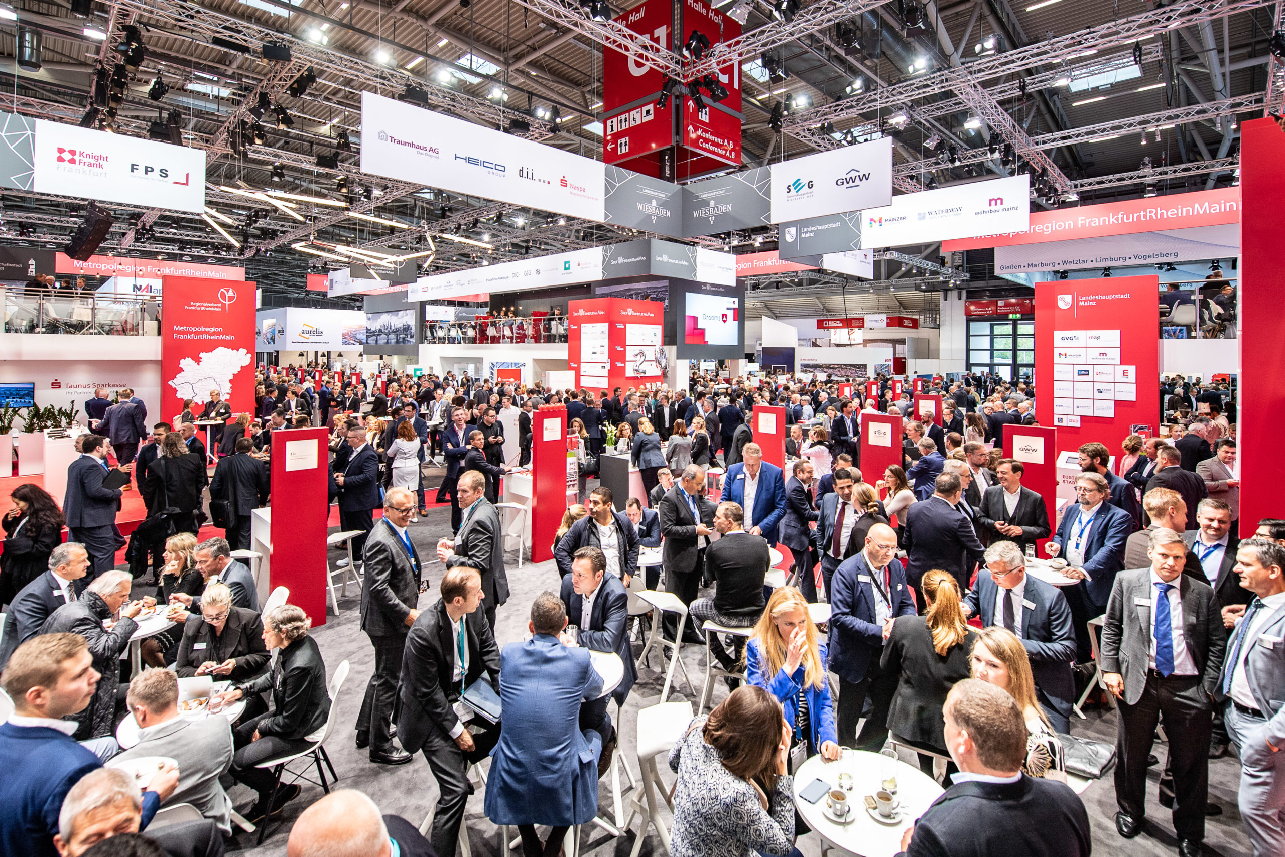 Innenaufnahme der Immobilienmesse Expo Real 2019 in München