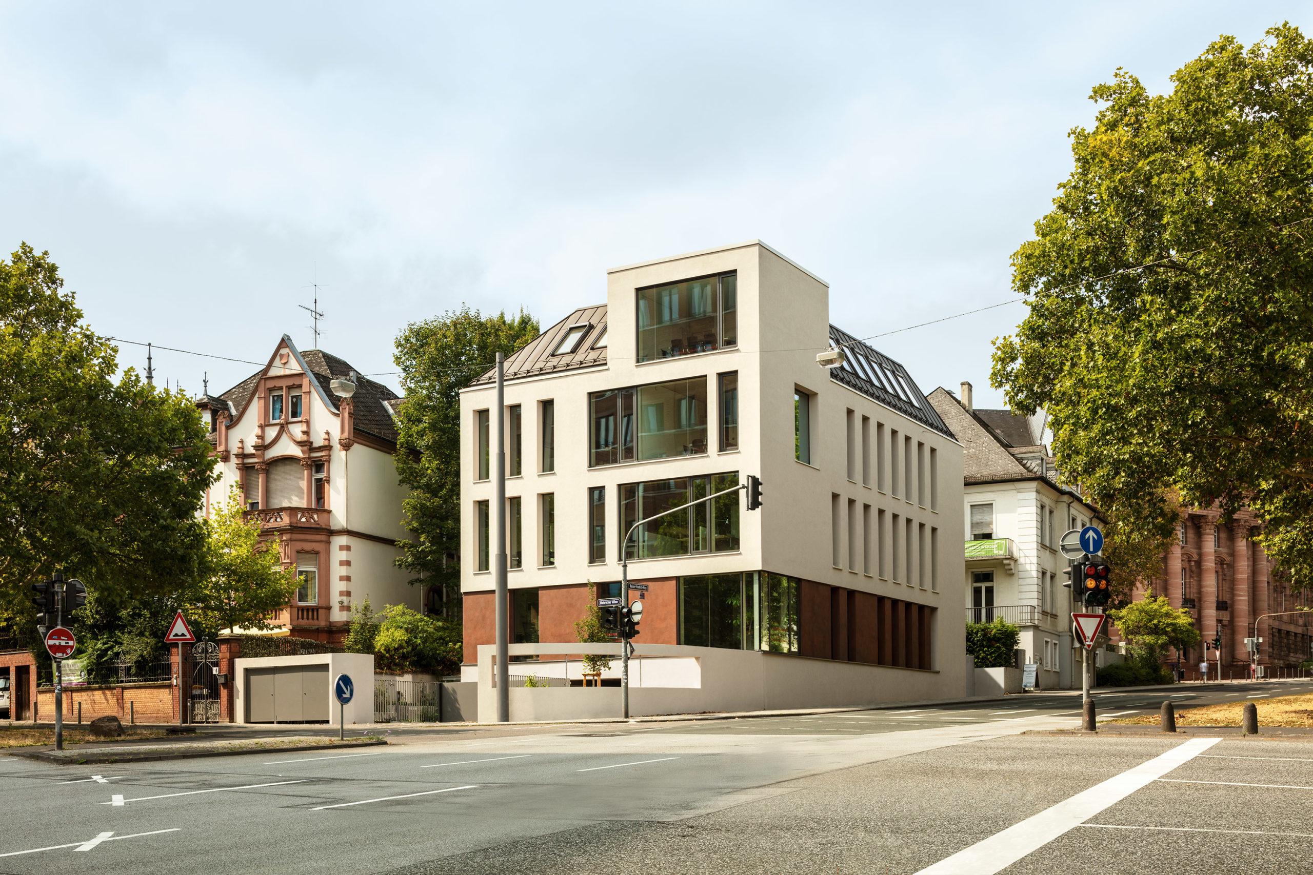 Ansicht von Nordosten des Bürogebäudes KFR79 in Wiesbaden