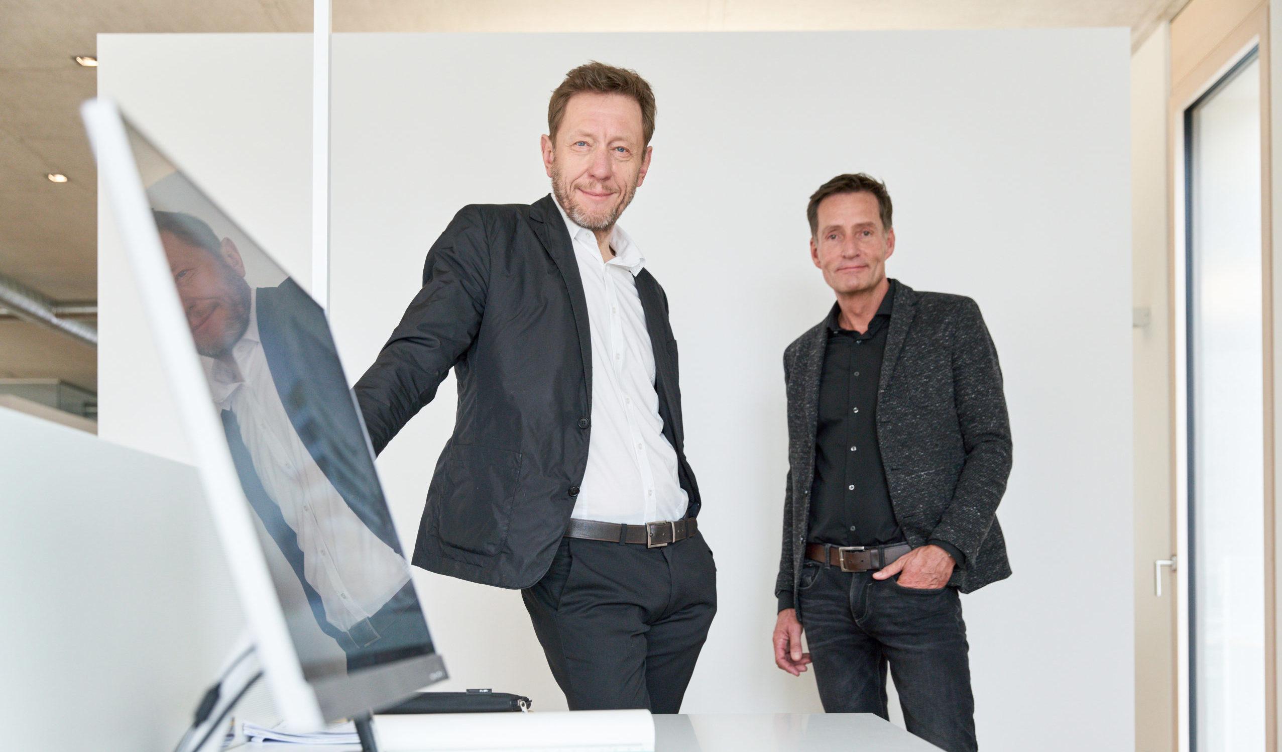 Peter Bitsch und Burkhard Bienstein von Bitsch+Bienstein Architekten in Wiesbaden