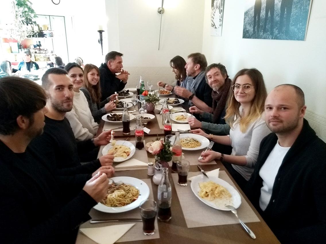 Mittagessen mit dem Team von Bitsch+Bienstein Architekten