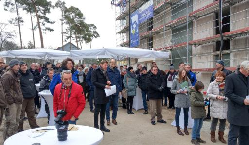 Richtfest für das Baufeld 3.1 in der Lincoln-Siedlung in Darmstadt